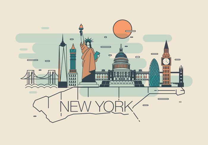 New York Karte Vol 2 Vektor