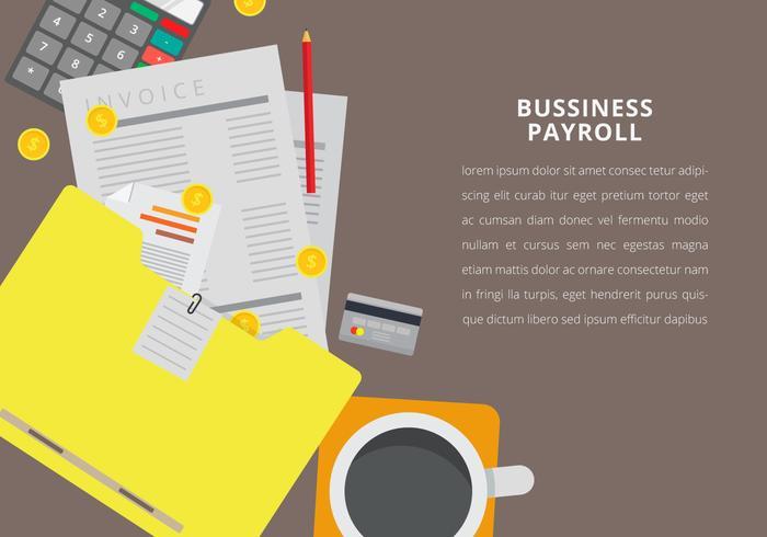 Geschäftsabrechnung mit bearbeitbarem Text vektor