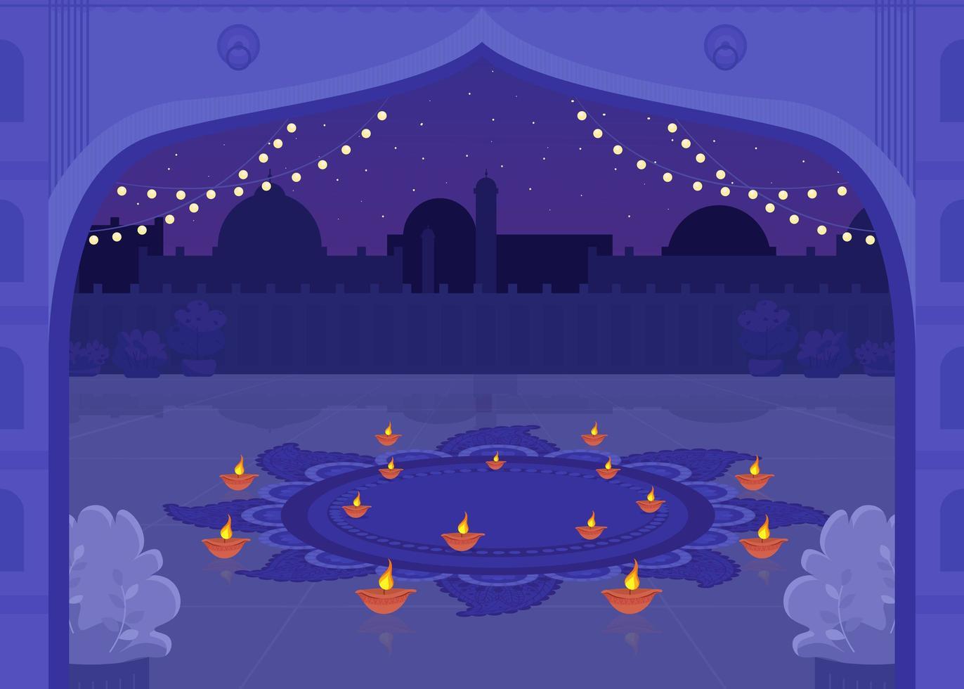 Diya Kerzen zum Feiern vektor