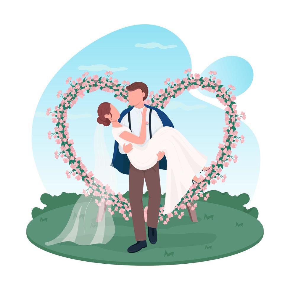 nygift parhjärta vektor