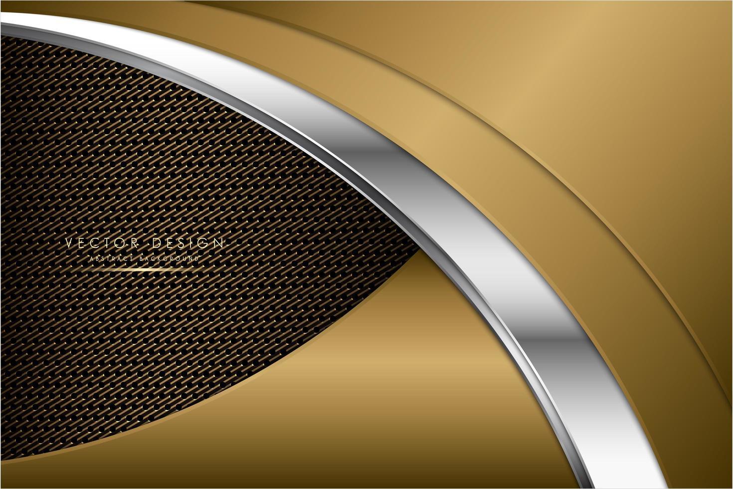 moderner silberner und goldener metallischer Hintergrund vektor