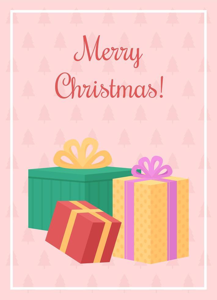 Weihnachtsgeschenke Grußkarte vektor