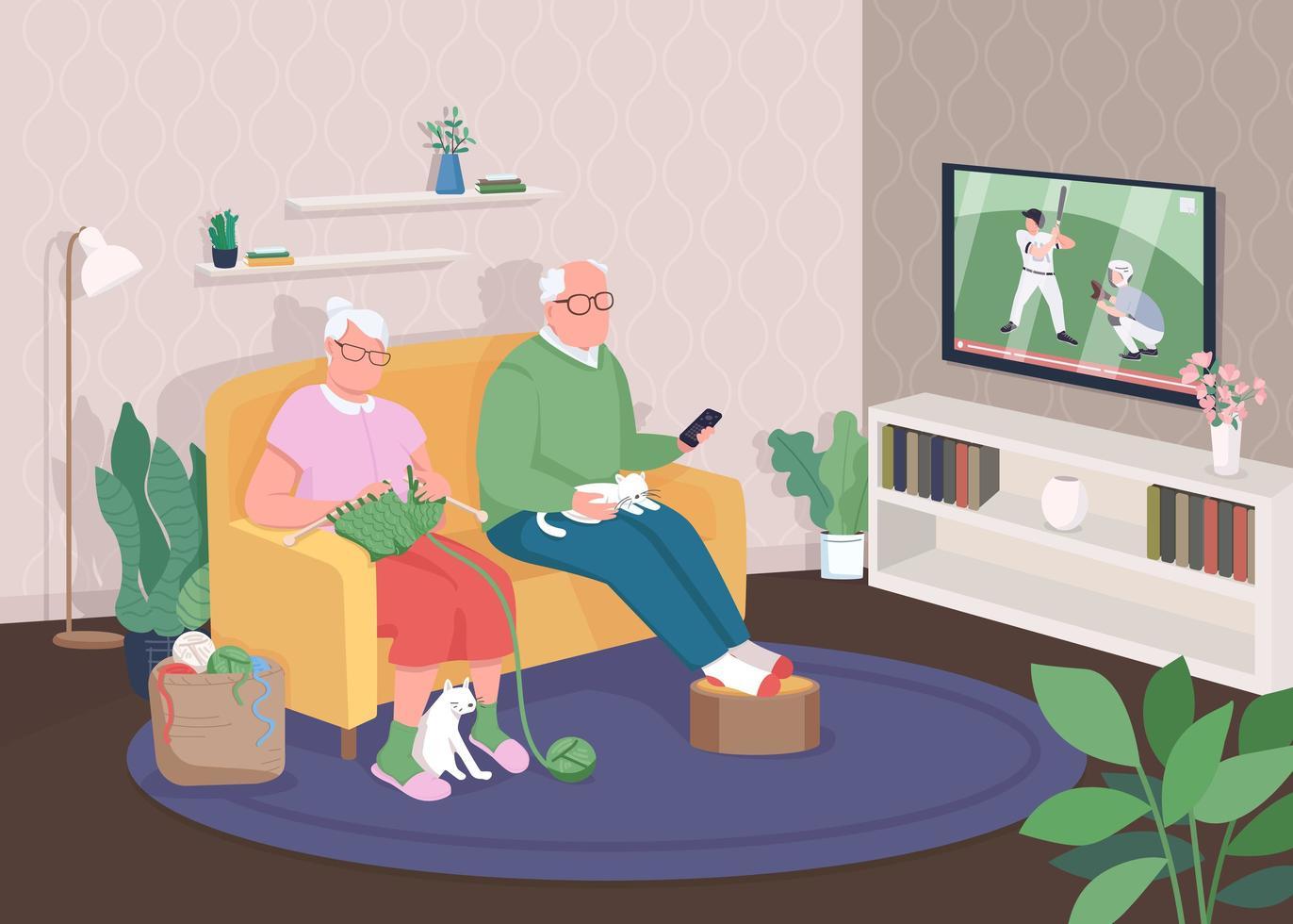 altes Ehepaar zu Hause vektor