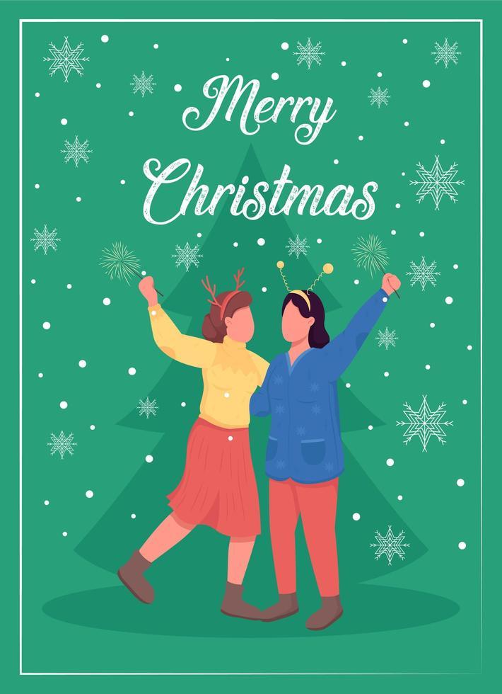 Weihnachtszeit-Grußkarte vektor
