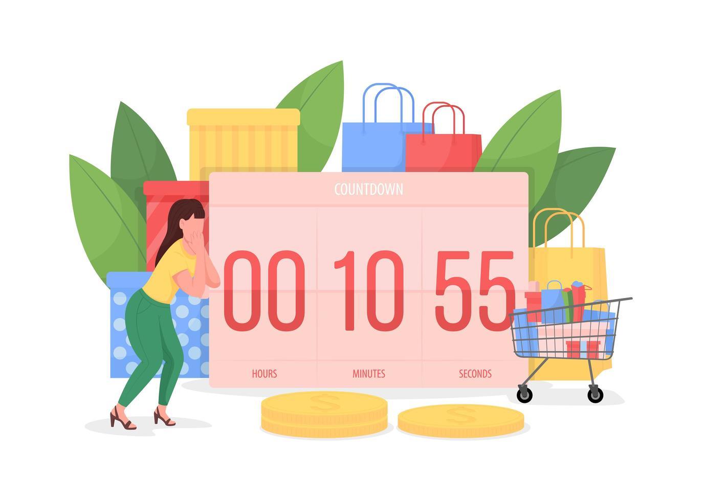 Countdown bis zum schwarzen Freitag vektor