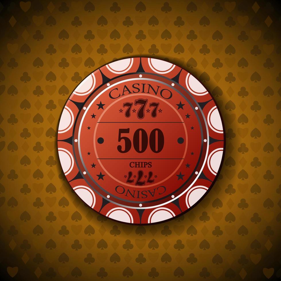 pokerchip nominellt femhundra vektor