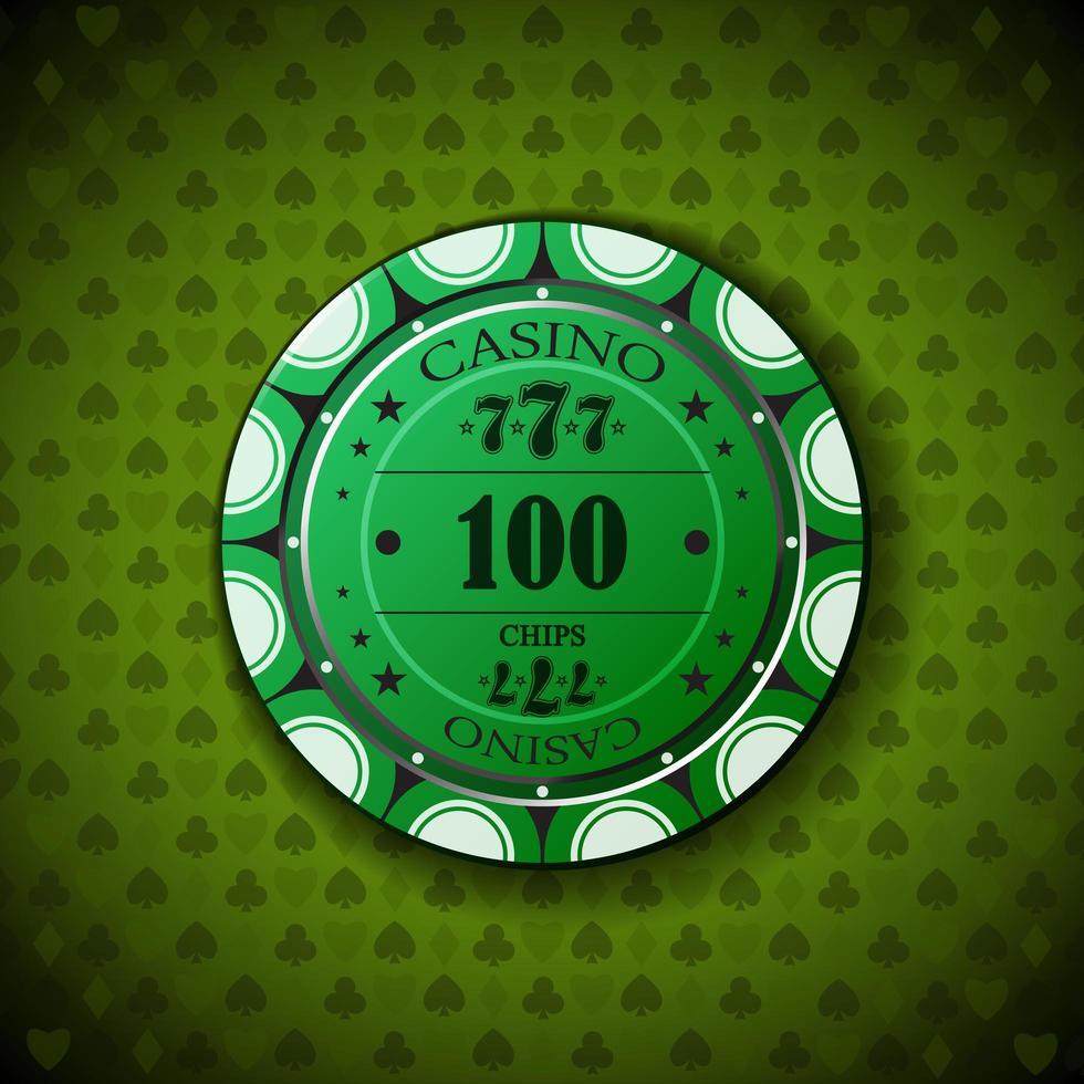 pokerchip nominellt hundra vektor