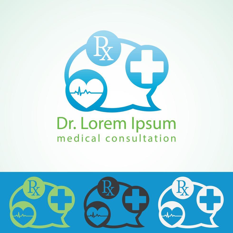 medicinsk apotek logotyp formgivningsmall. vektor