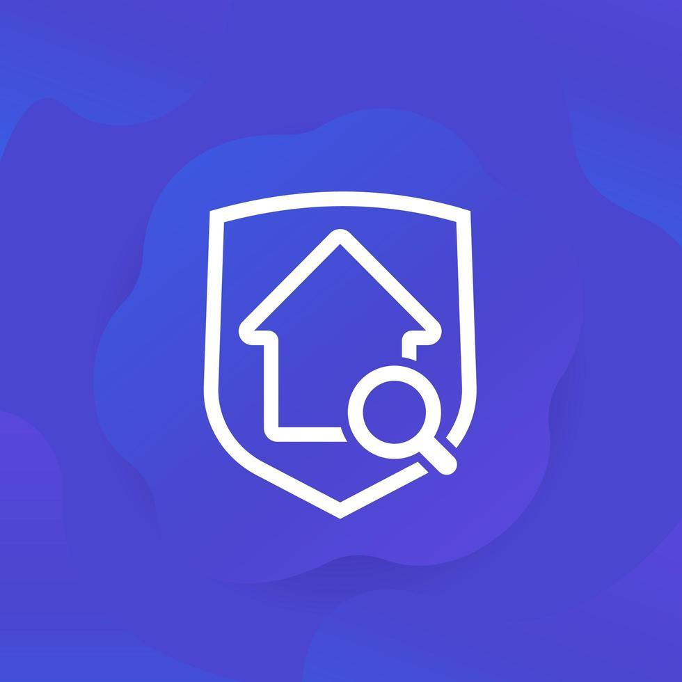 Safe-House-Suchsymbol für Web vektor