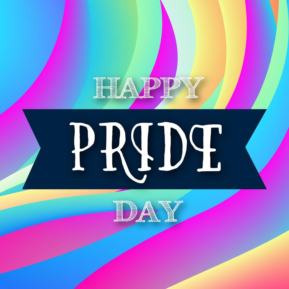 färgglad glad stolthet dag sociala medier design vektor