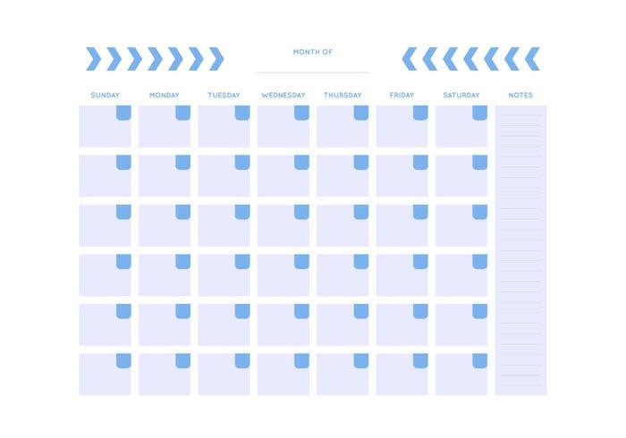 Kostenlose einzigartige monatliche Kalender-Vektoren vektor
