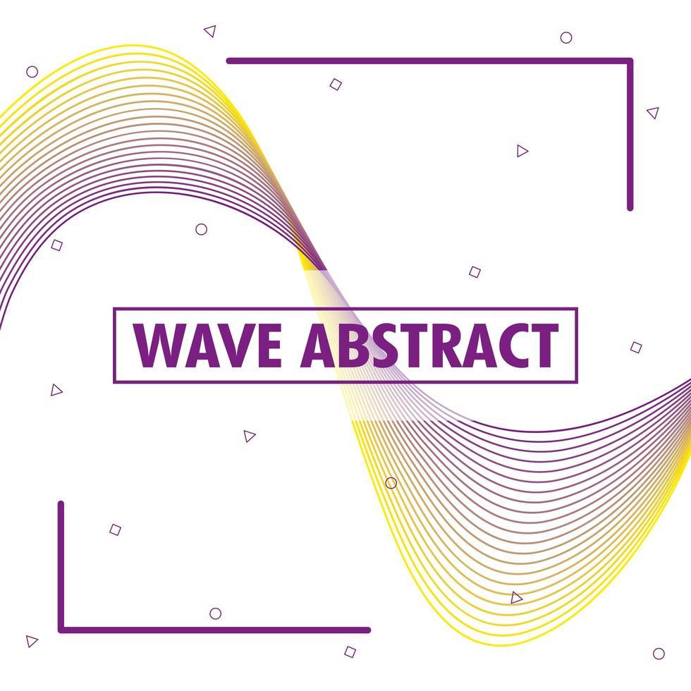 abstrakt vågig bakgrund vektor