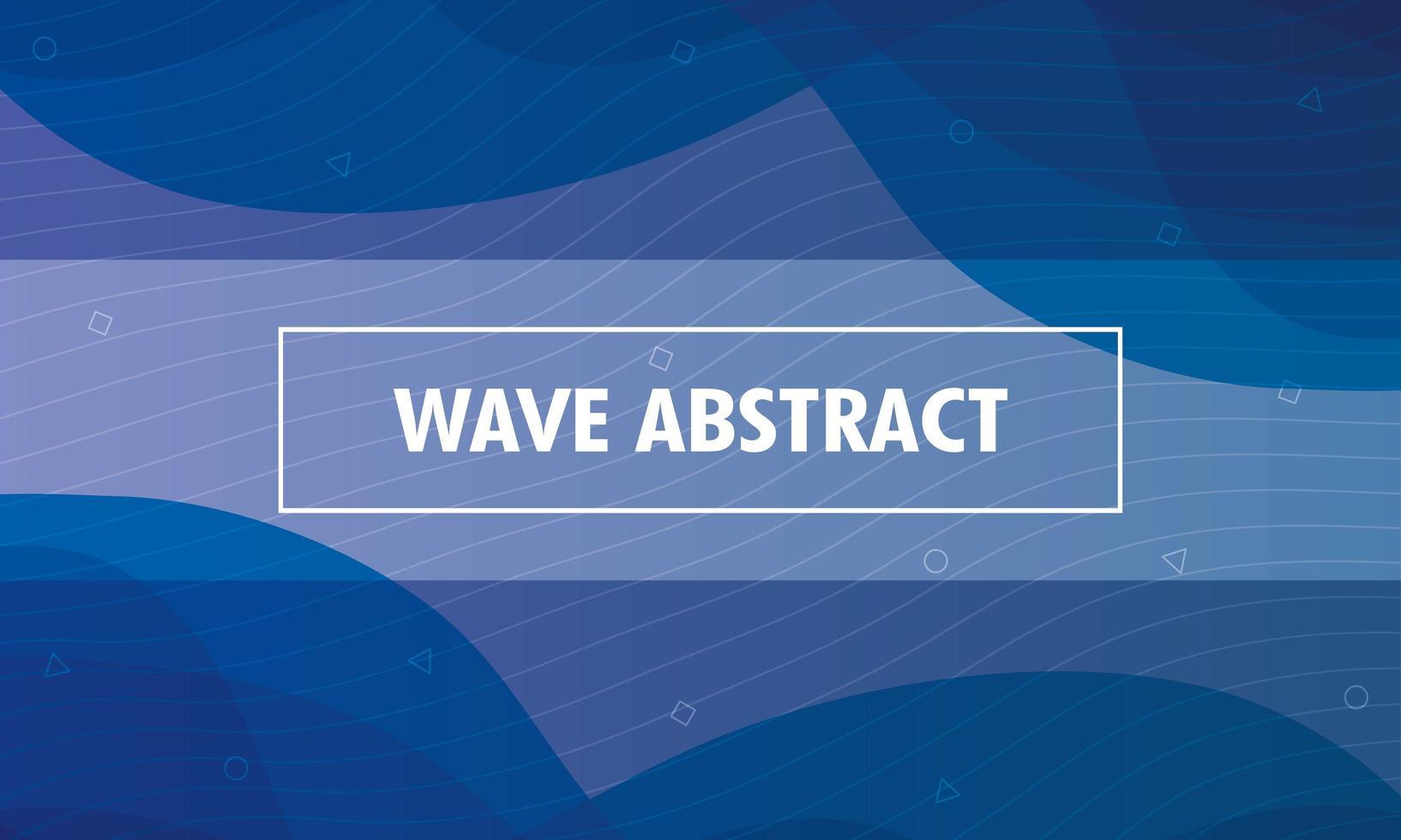 abstrakter gewellter blauer Hintergrund vektor