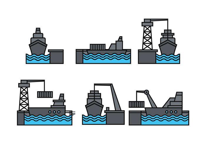 Hafenvektorsatz vektor