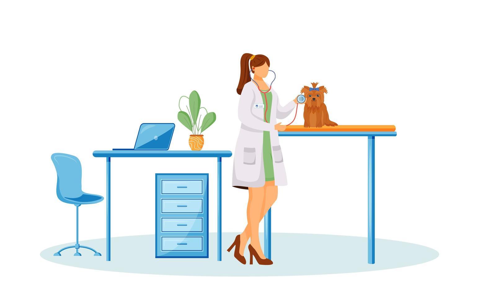 veterinär läkare karaktär vektor