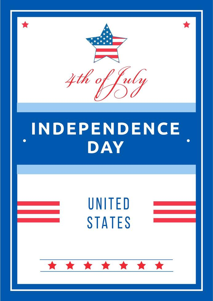 Unabhängigkeitstag Poster vektor