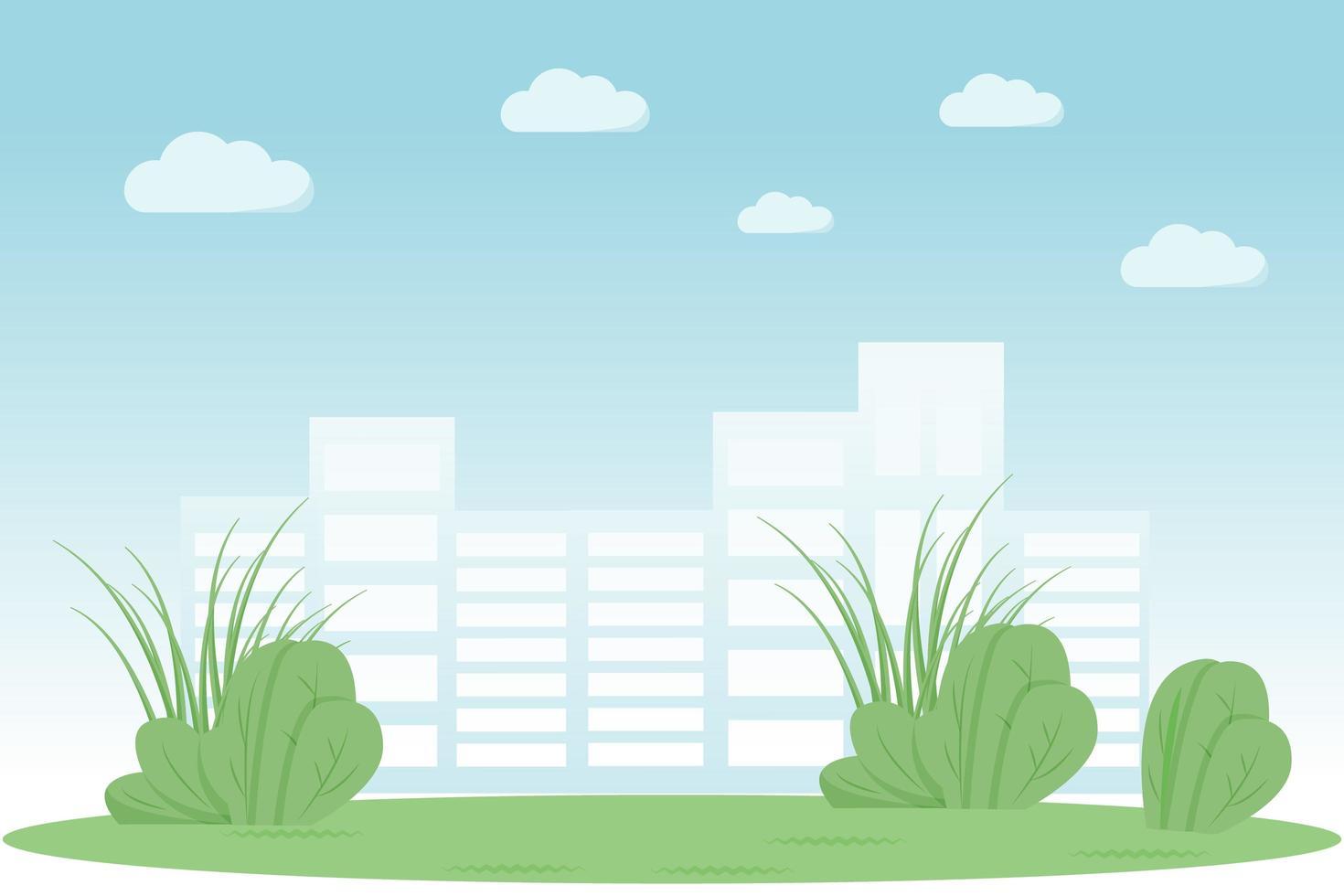 urban park scen vektor