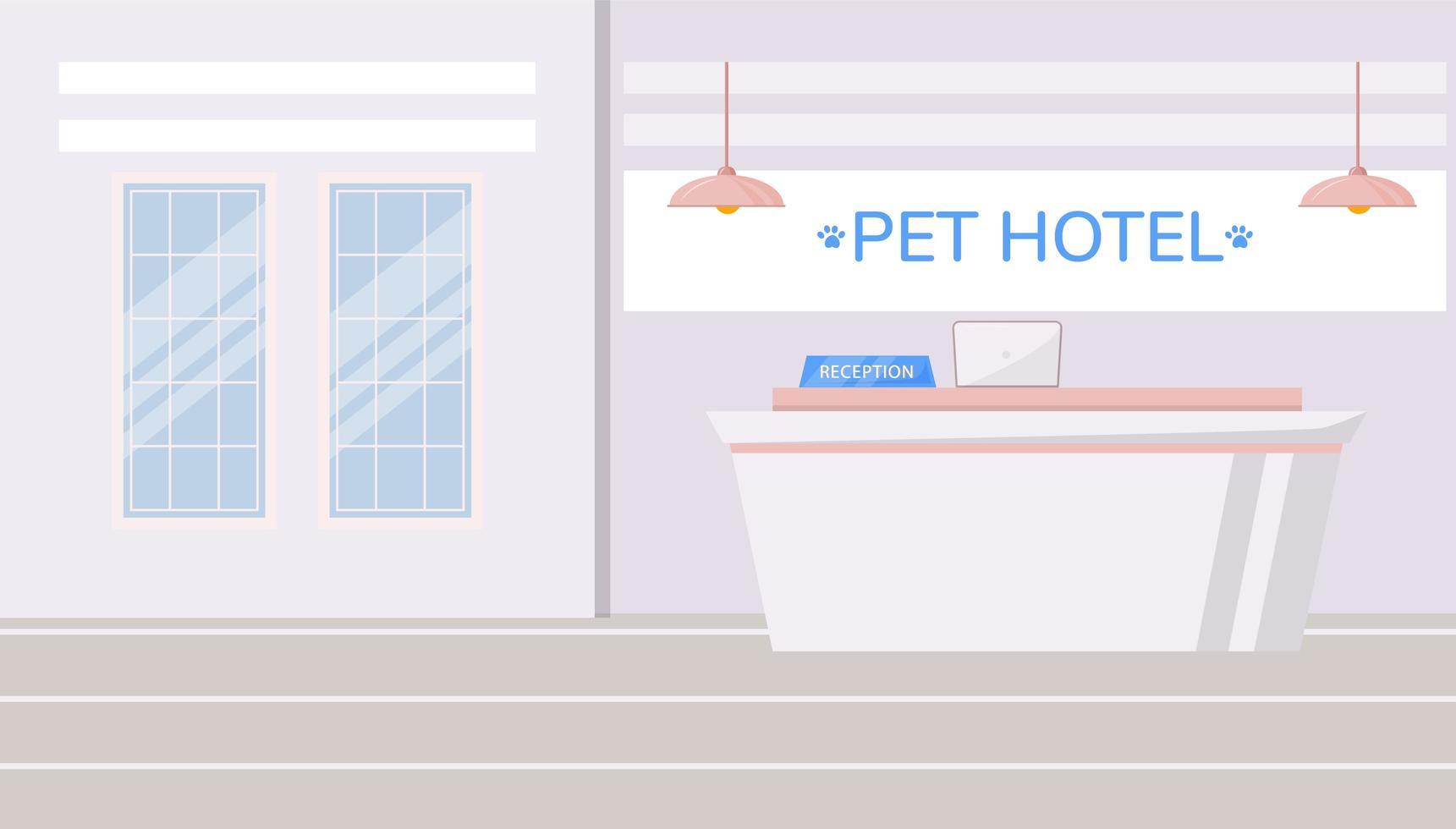 sällskapsdjur hotell bakgrund vektor