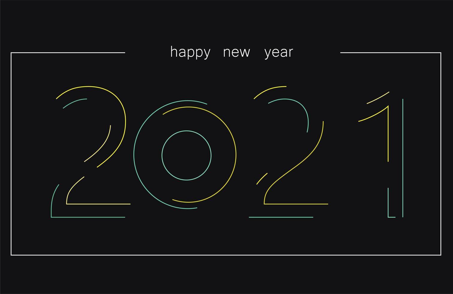 2021 Neonstil Text vektor
