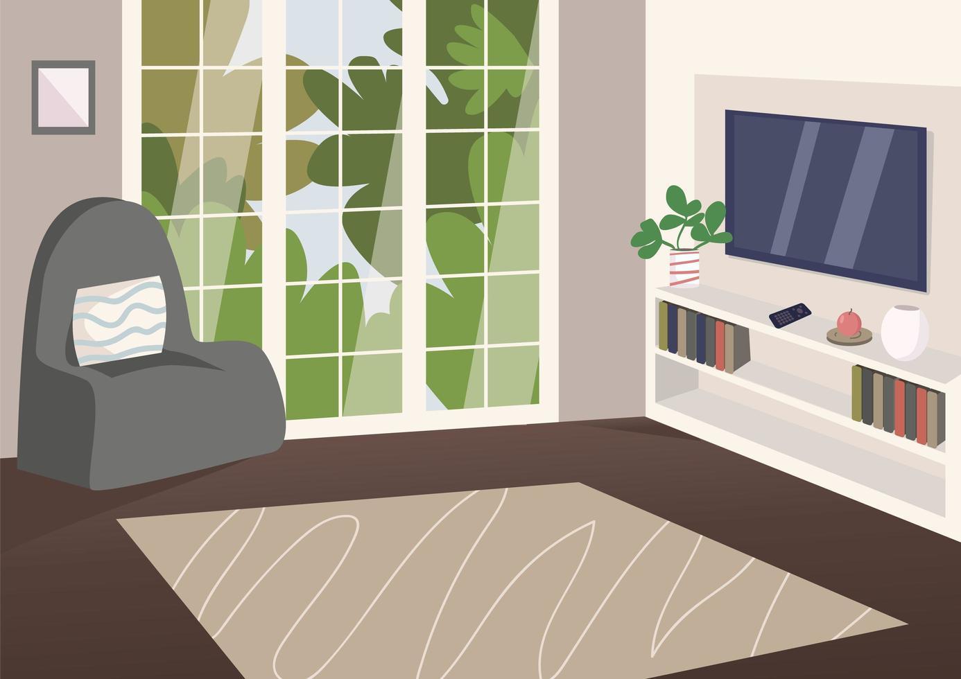 geräumiges Wohnzimmer vektor