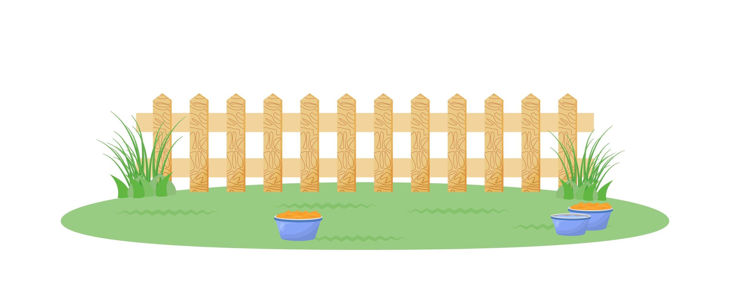 Hinterhof mit Zaun vektor
