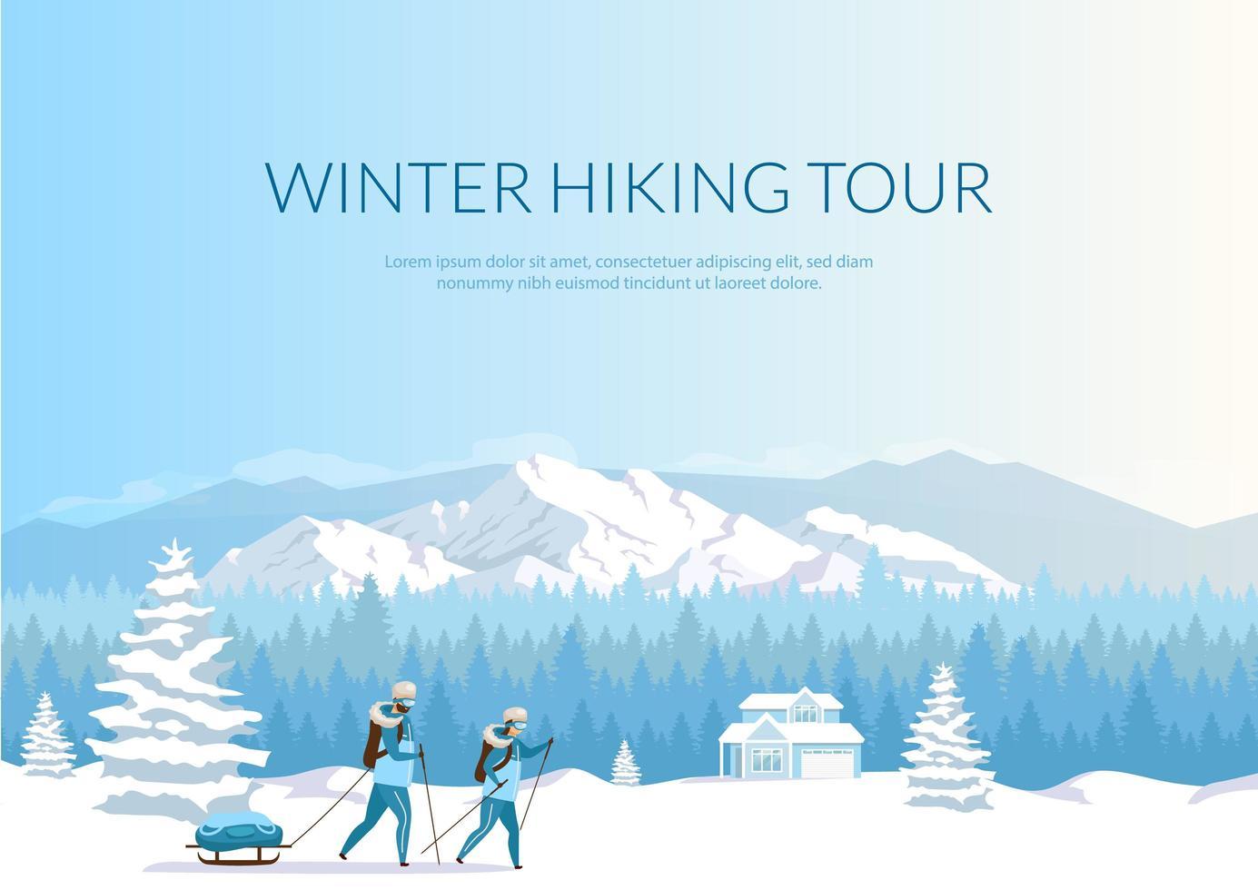 Winterwanderung Banner vektor