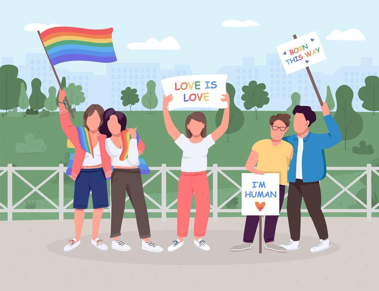 HBT social rörelse vektor