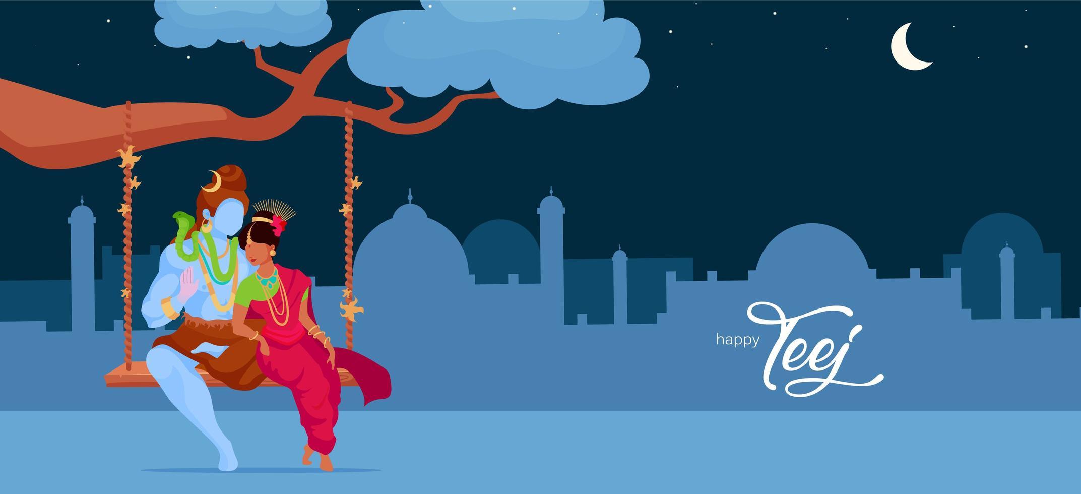 hinduistische Gottheit in der Liebe vektor
