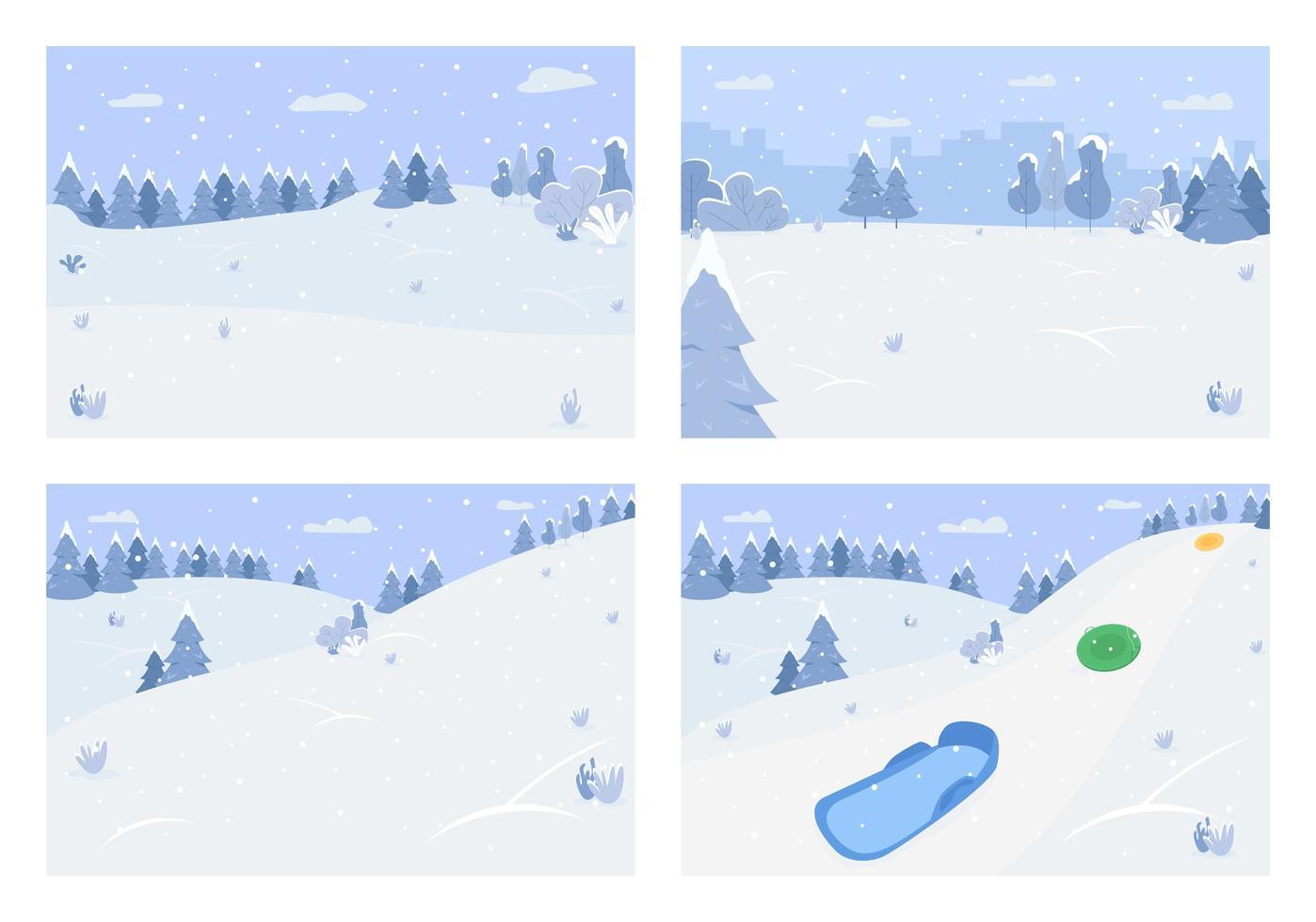vinter snö landskap vektor