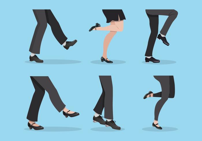 Set von Tap Schuhe Vektor