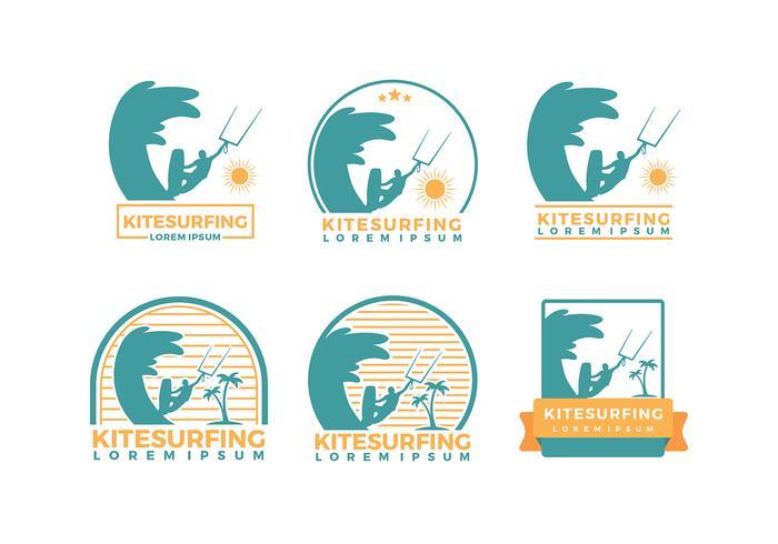 Kitesurfing Logo Mall Gratis Vector