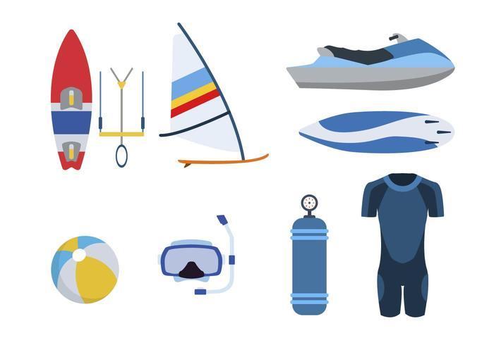Flachwassersport-Vektoren vektor