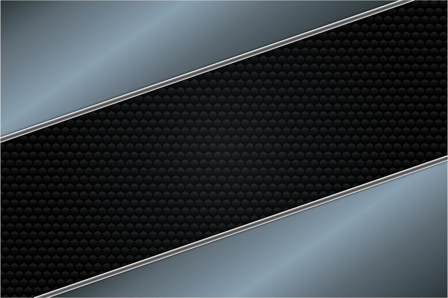 luxuriöser silberner, blauer und schwarzer metallischer Hintergrund vektor