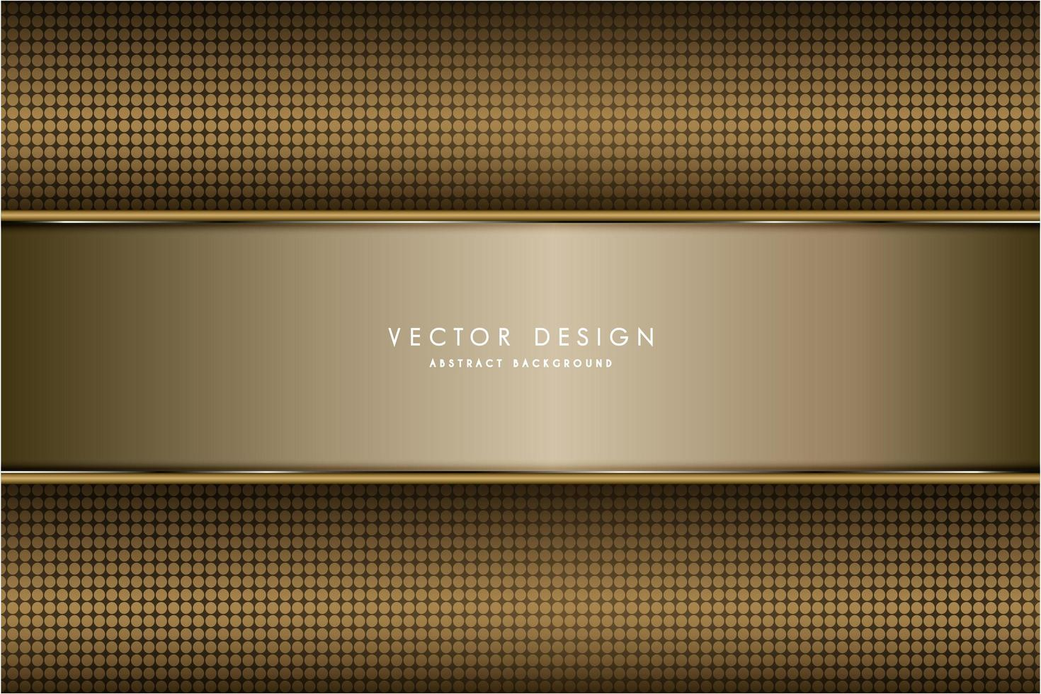 moderner goldmetallischer Hintergrund vektor