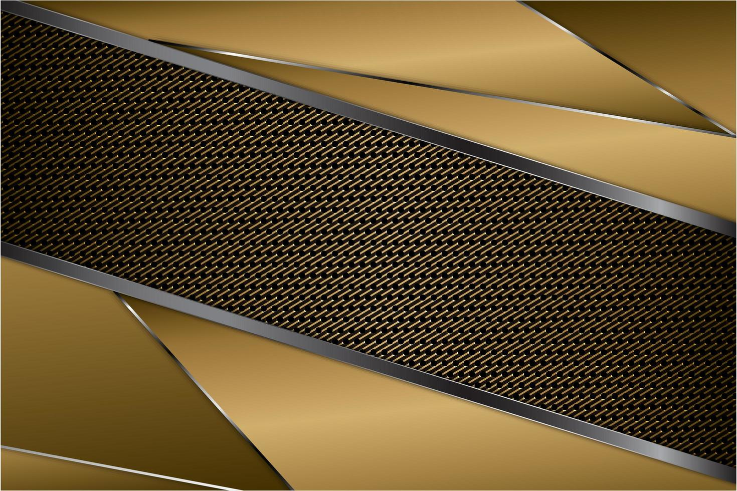 moderner goldener, grauer und silberner metallischer Hintergrund vektor