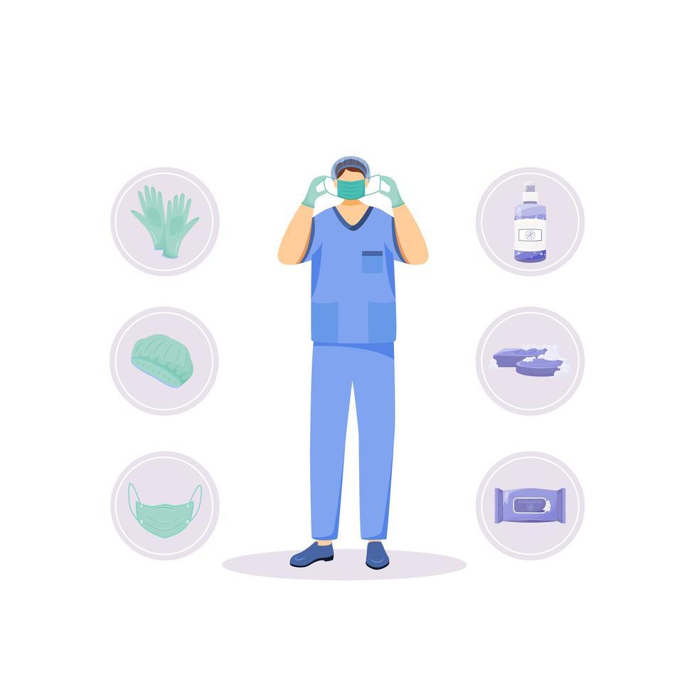 medicinska hygienprodukter vektor