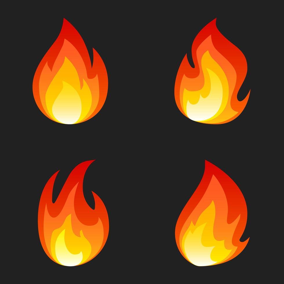 Satz von 4 Feuer vektor