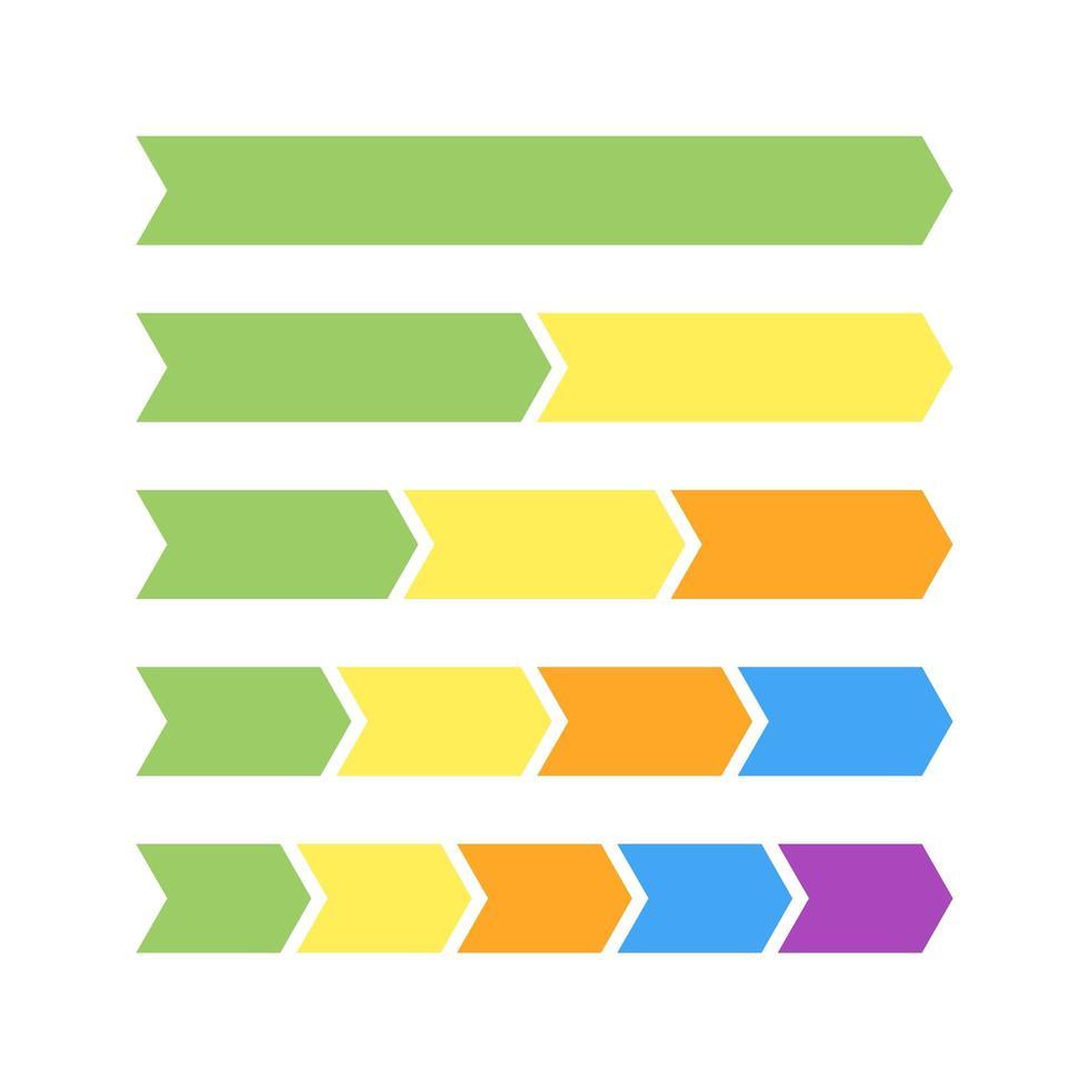 uppsättning med fyra linjära objekt för infografik vektor