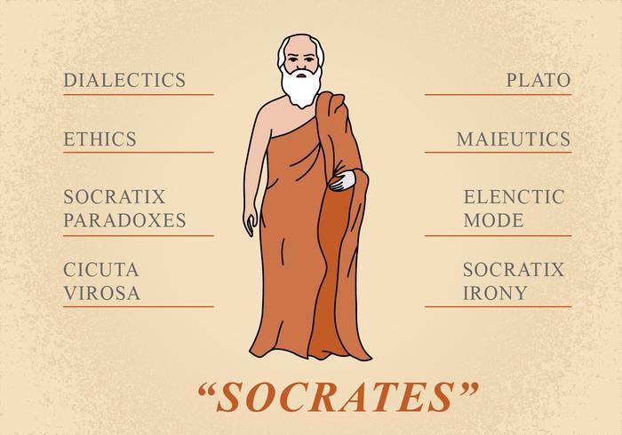 Flache Sokrates Figur vektor