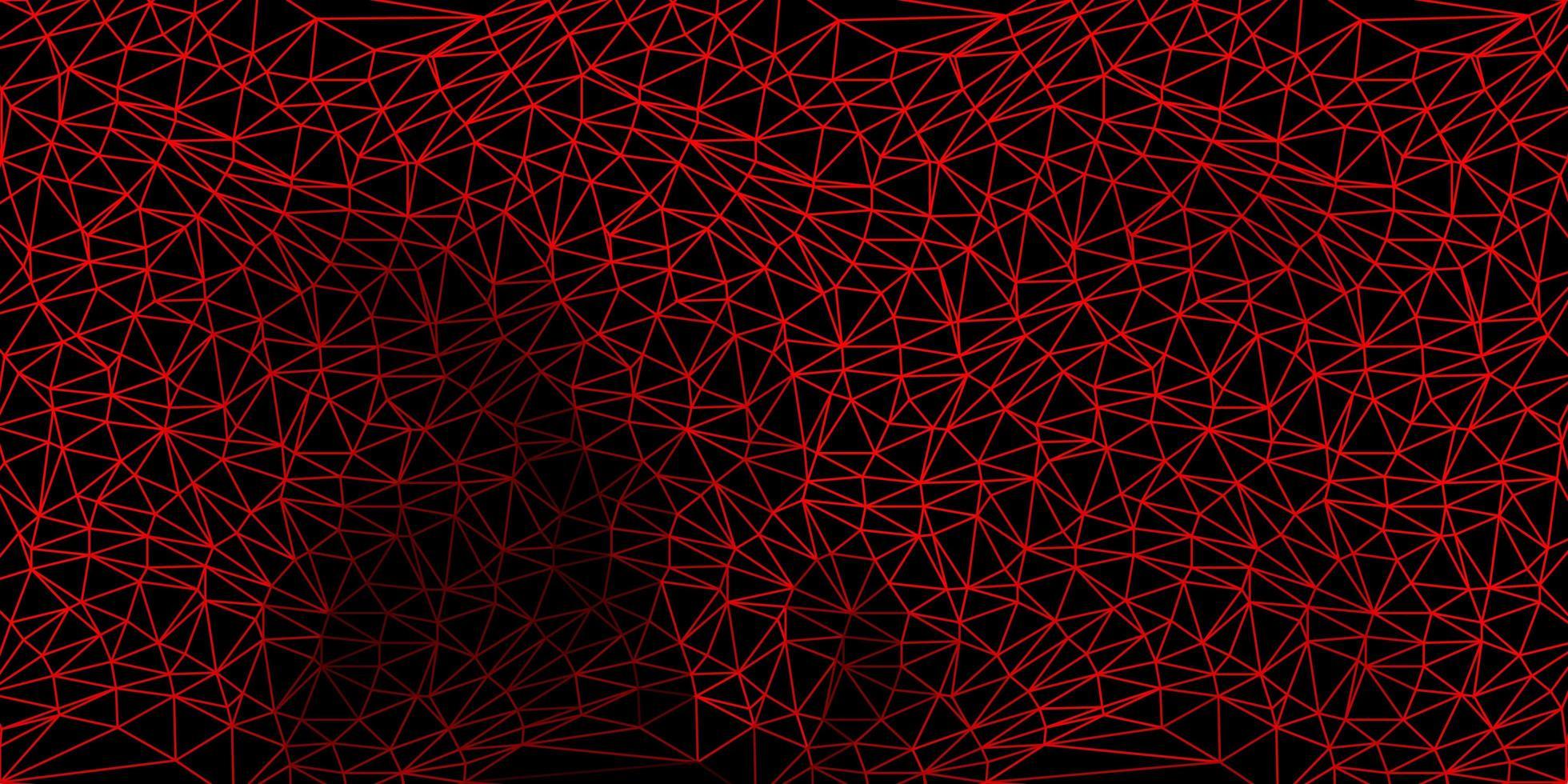 mörkröd gradient polygon design. vektor