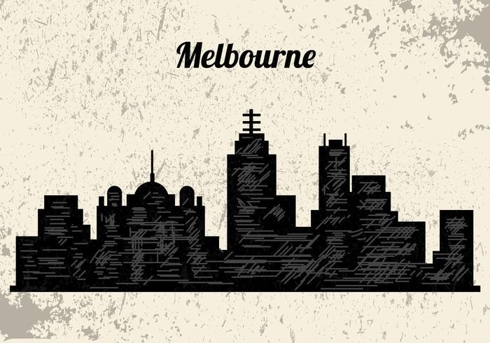 Silhouette der Stadt Melbourne vektor