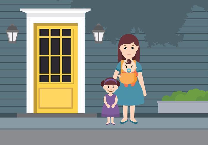 Kindermädchen-Tagespflege-freier Vektor