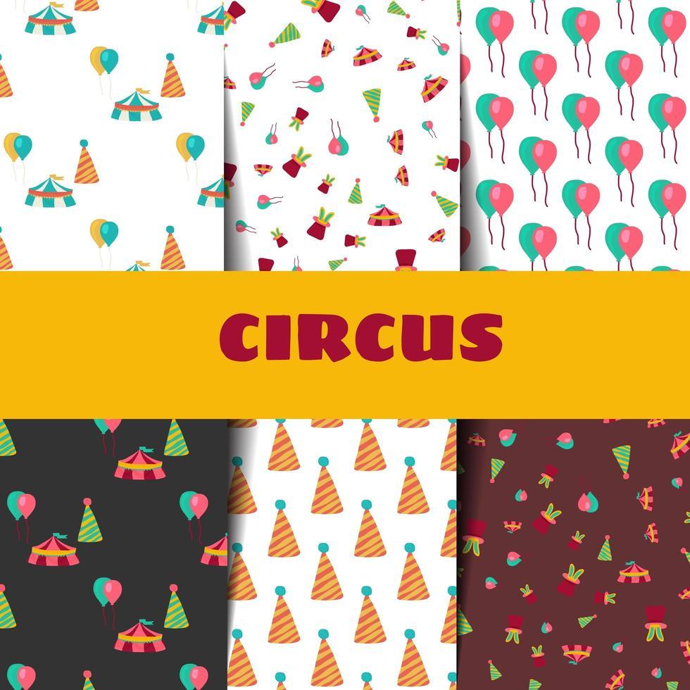 Zirkusmuster im Doodle-Stil. vektor
