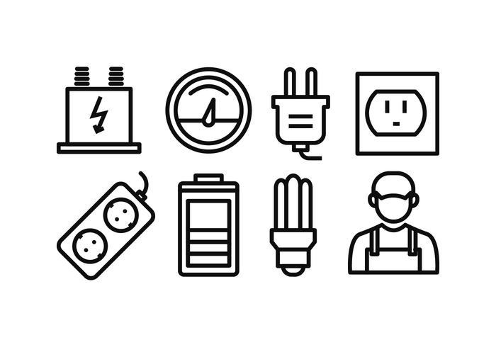 Strom Icon Pack vektor