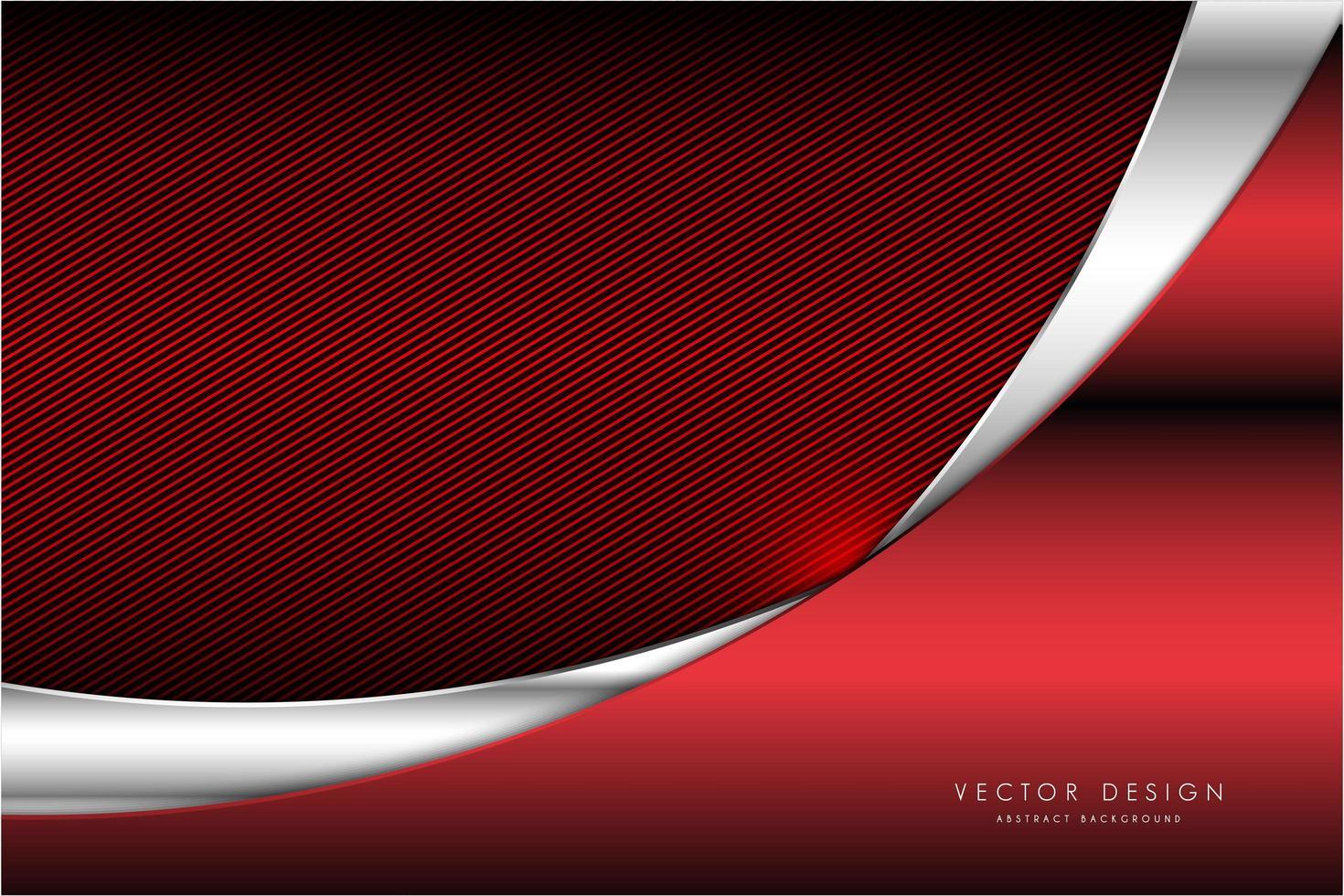 metallische rote und silberne Paneele über gestreifter Textur vektor