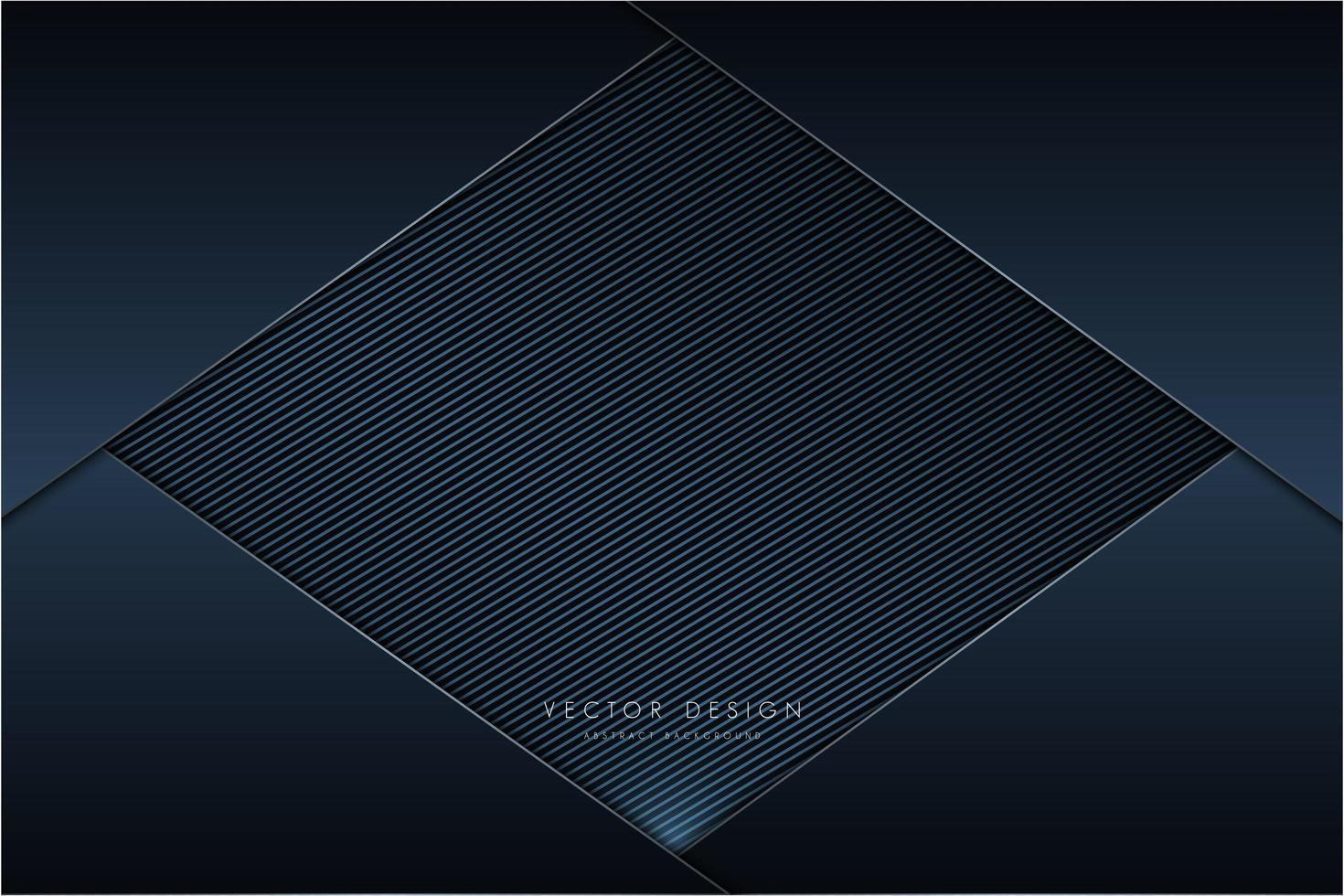 Metallic Dark Navy Panels mit Kohlefaser-Diamant vektor