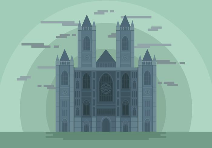 westminster abbey landmark vektor illustration