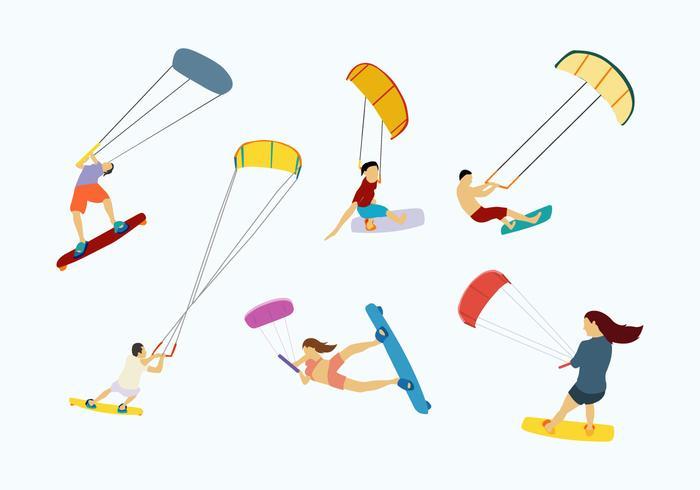 Kitesurfing-Vektor vektor