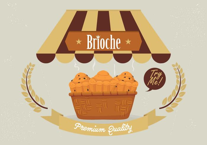 Brioche Bakgrund Vector