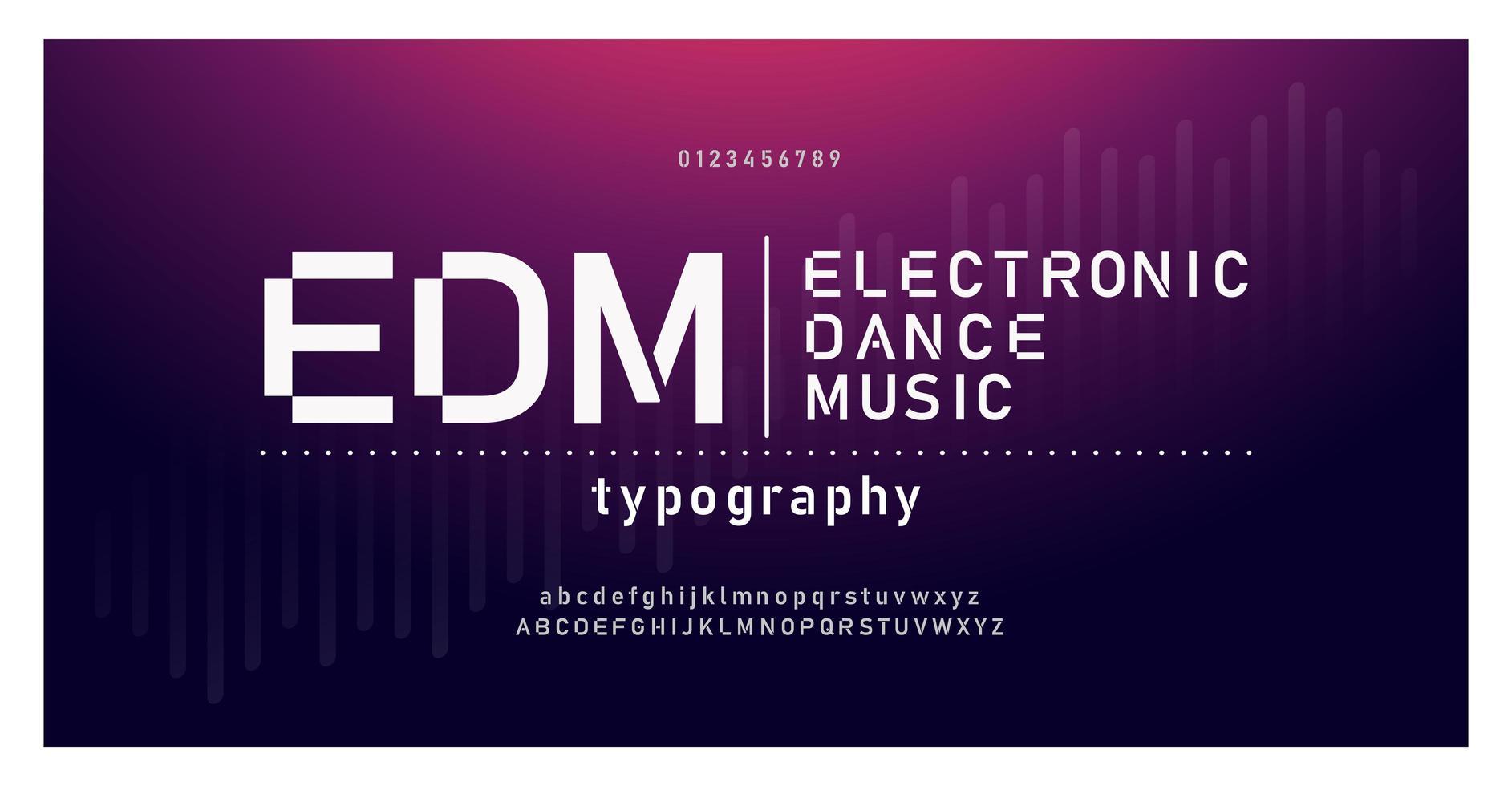 elektronische Tanzmusik Zukunft kreative Schrift vektor